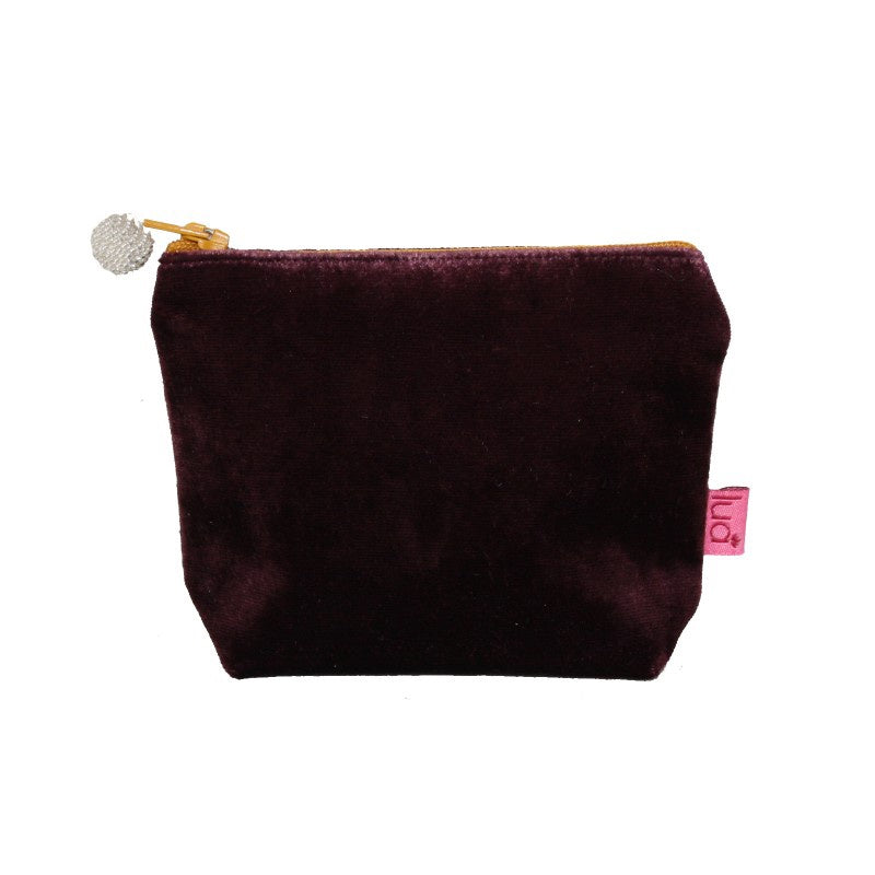 Lua Velvet Mini Purse in Fig