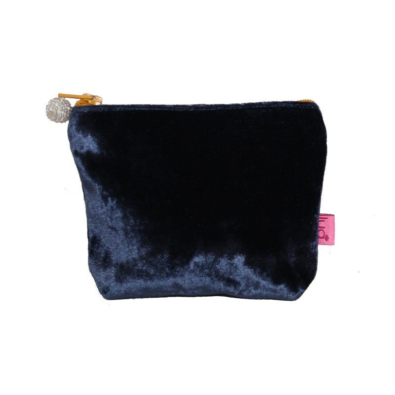 Lua Velvet Mini Purse in Navy