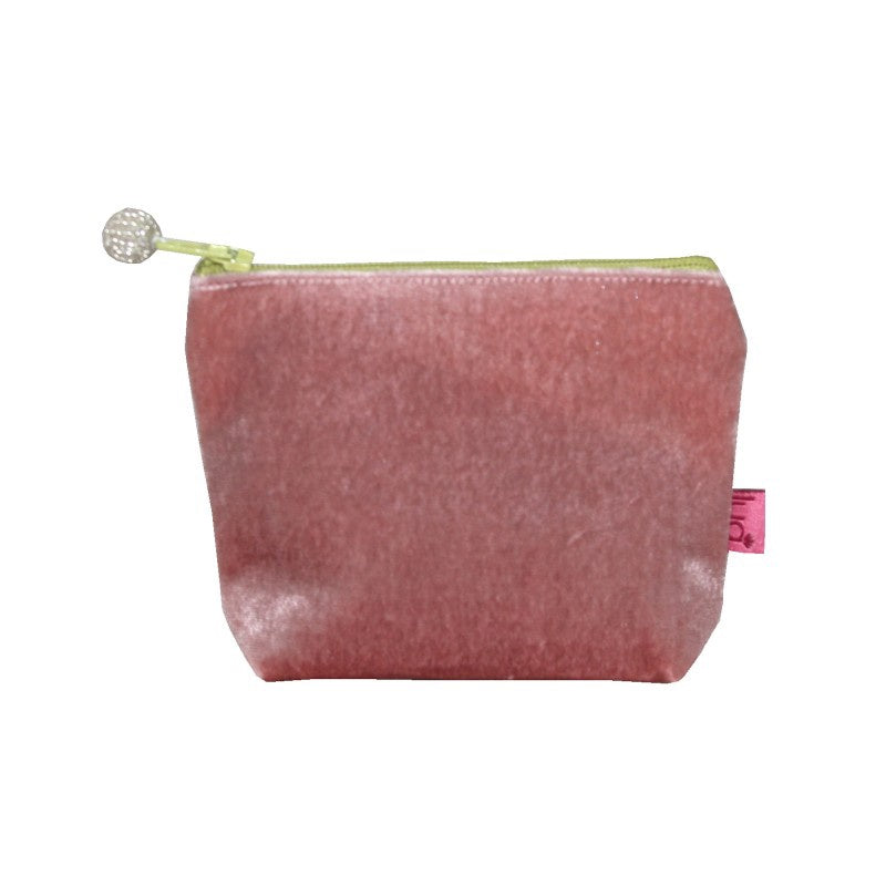 Lua Velvet Mini Purse in Blush Pink