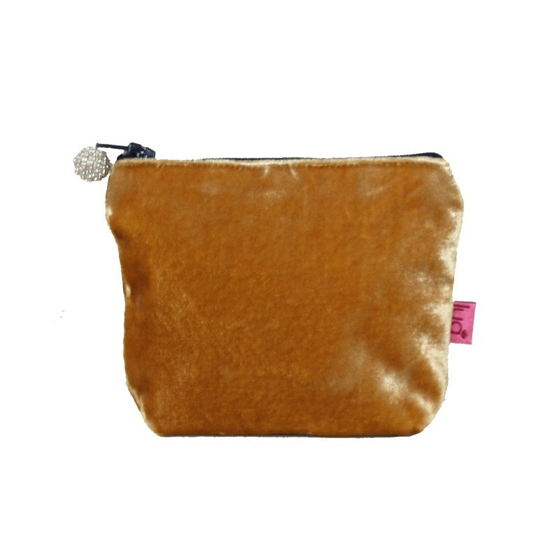 Lua Velvet Mini Purse in Ochre