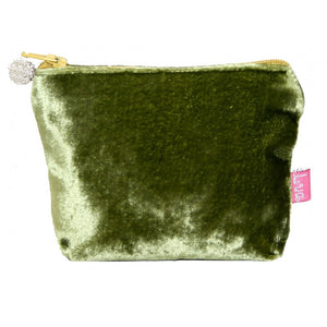 Load image into Gallery viewer, Lua Velvet Mini Purse in Olive