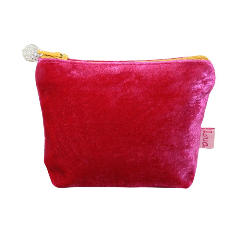 Lua Velvet Mini Purse in Hot Pink