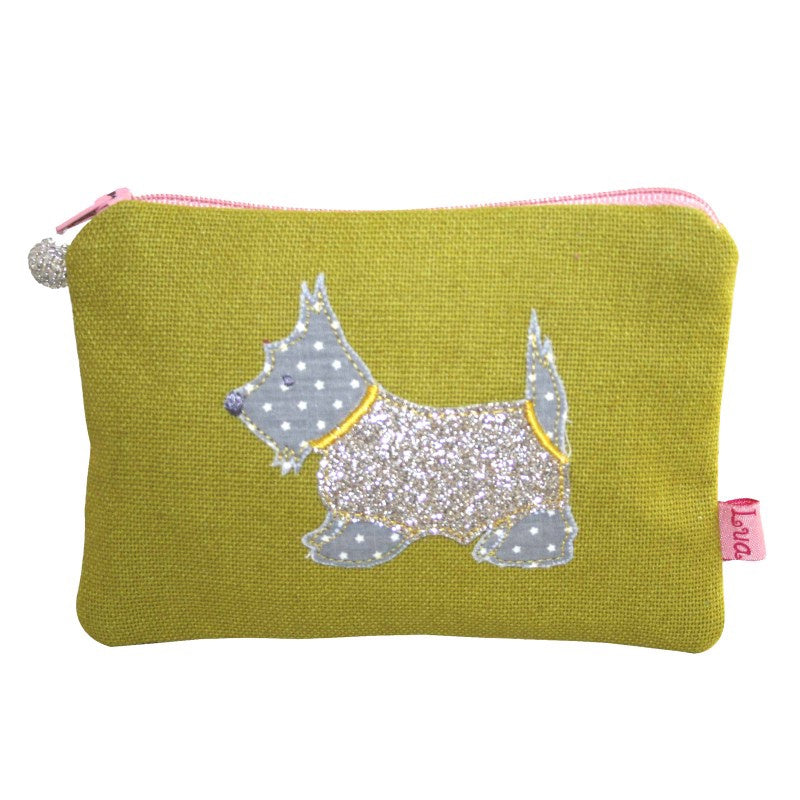 Lua Scottie Dog Coin Purse in Citrus