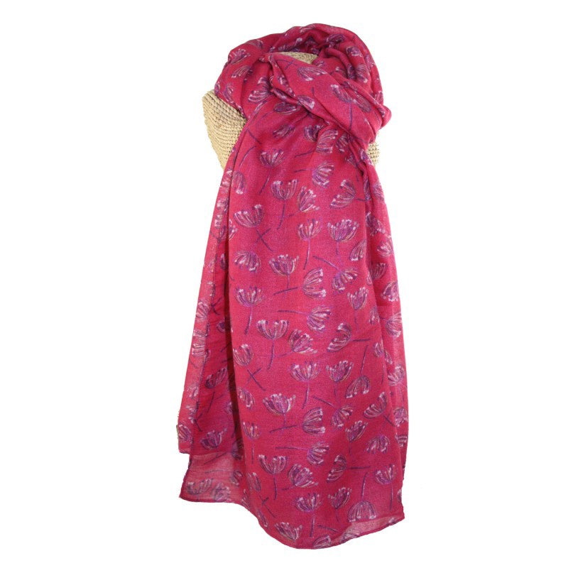 Lua Dandelion Breeze Scarf in Fuchsia