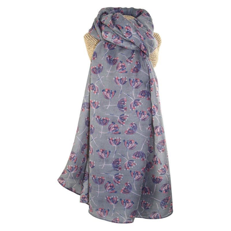 Lua Dandelion Breeze Scarf in Grey