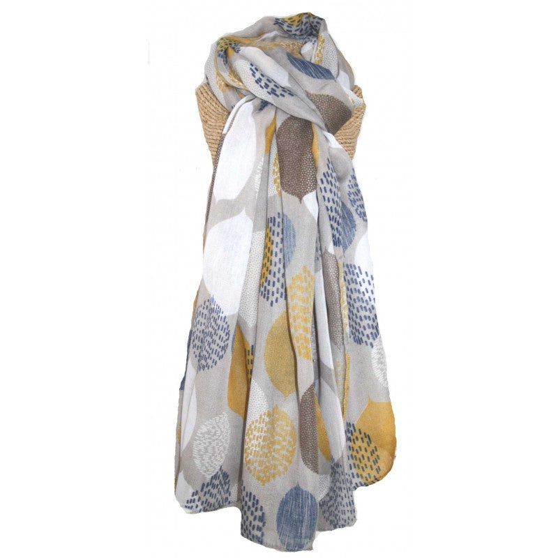 Lua Leaves Scarf in Grey