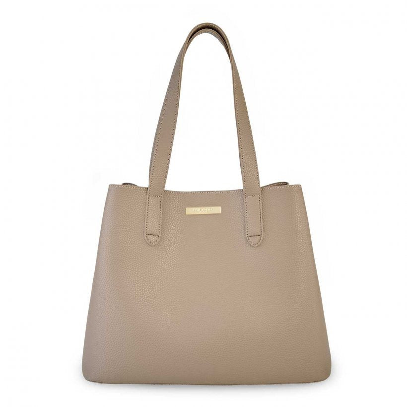 Katie Loxton Riley Shoulder Bag in Taupe