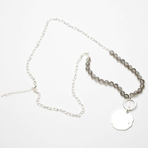 Eliza Grazcious Beaded Disc Necklace