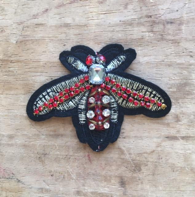 Sixton London Large Jewelled Insect Pin
