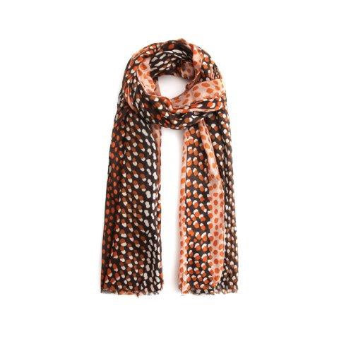 Two Tone Spots Salmon Scarf