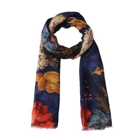 Peony Scarf in Blue