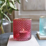 Biggie Best Red Glass Tealight Holder