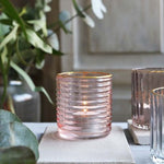 Biggie Best Pale Pink Glass Tealight Holder