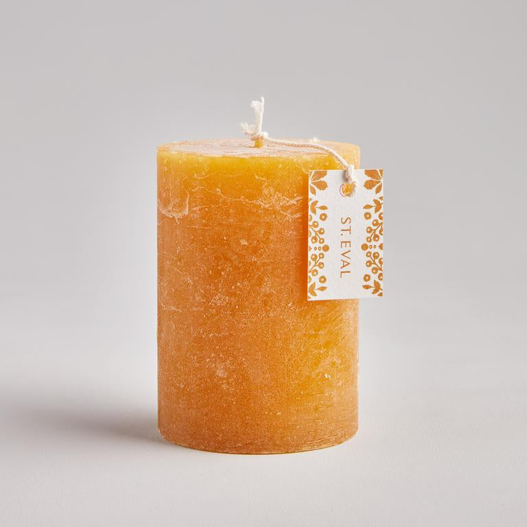 St Eval Amber, Folk Scented Pillar Candle