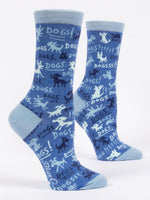 Blue Q Dogs! Ladies Crew Socks
