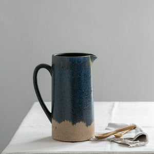 Load image into Gallery viewer, Grand Illusions Jug Blue/Green Dipped