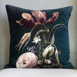 Grand Illusions Velvet Cushion Vintage Flowers