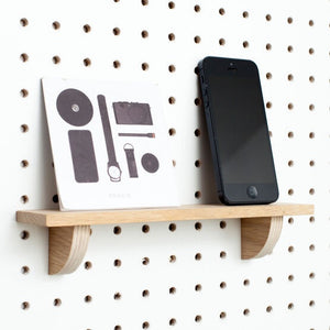 Load image into Gallery viewer, Block Wooden Pegboard Shelf