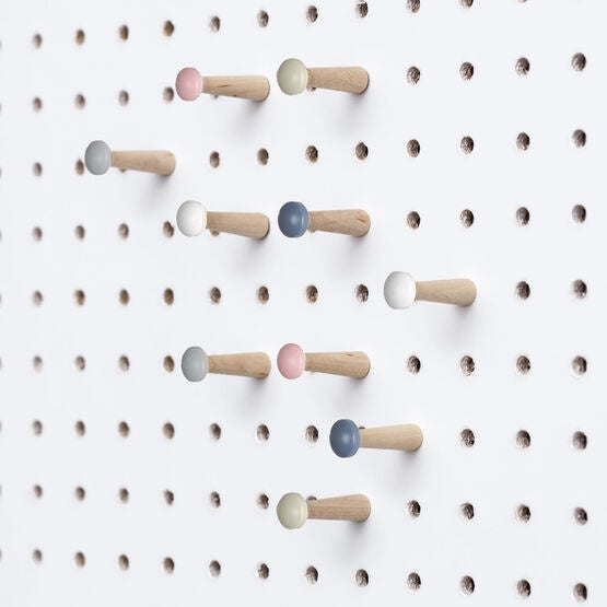 Block Wooden Pegboard Pegs - Multicoloured