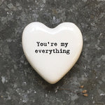 East of India White Heart Token You're My Everything