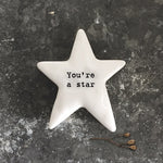 East of India Star Token You're A Star
