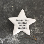 East of India Star Token Thanks For Helping Me Sparkle