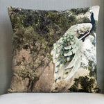 Grand Illusions Velvet Cushion Peacock