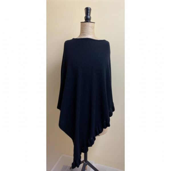 Park Lane Cashmere Mix Poncho in Black