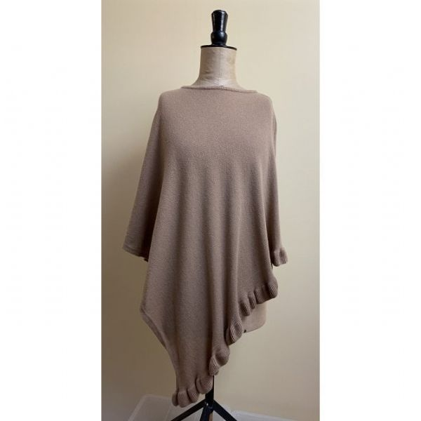 Load image into Gallery viewer, Park Lane Lara Cashmere Mix Poncho in Camel
