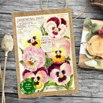 Seeds With Love Vintage Pansy Card with Seeds