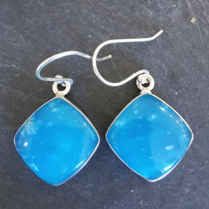 Smithsonite Square Sterling Silver Earrings