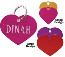 Load image into Gallery viewer, Engraved Heart Pet Tag