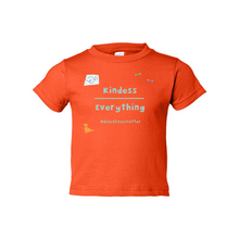 Load image into Gallery viewer, Kindness Over Everything Toddler Cotton Tee