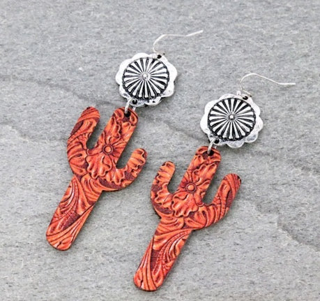 Concho Cactus Earrings