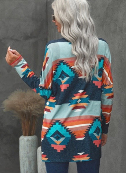 The Rainbow Aztec Cardi
