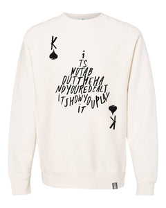 king of spades unco crewneck sweatshirt