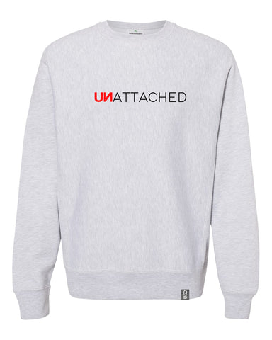 unattached crew neck sweatshirt