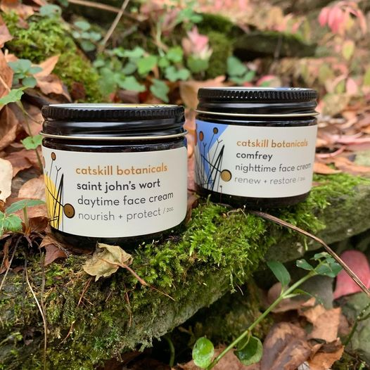 Saint Johns Wort Daytime Face Cream and Comfrey Nighttime Face Cream Set