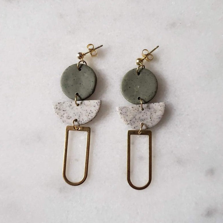 Hanging Brass Earrings