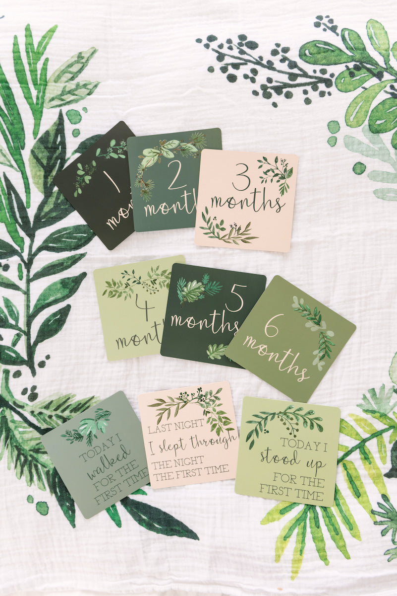 Milestone Card Set - Green Foliage