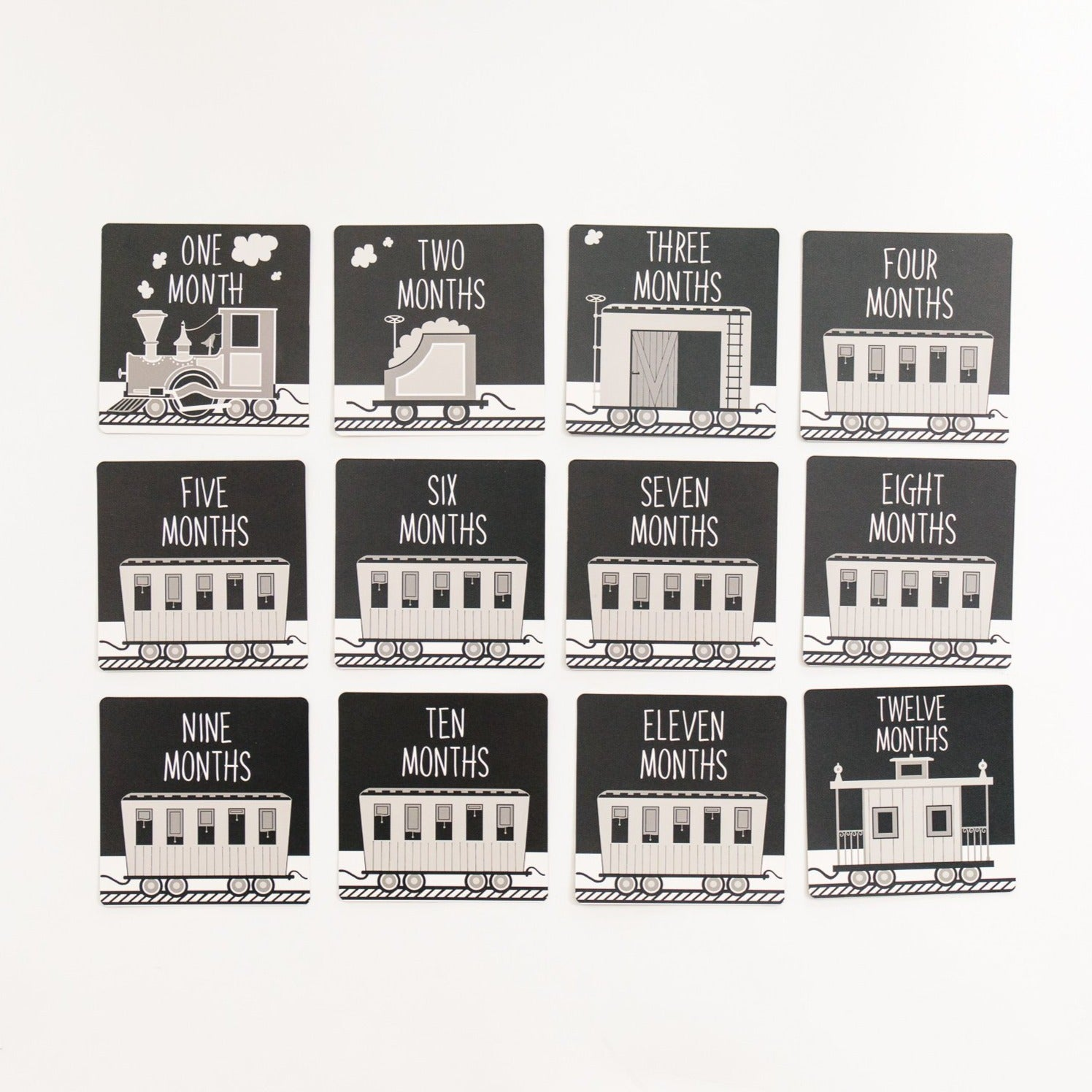 Milestone Card Set - Black Train