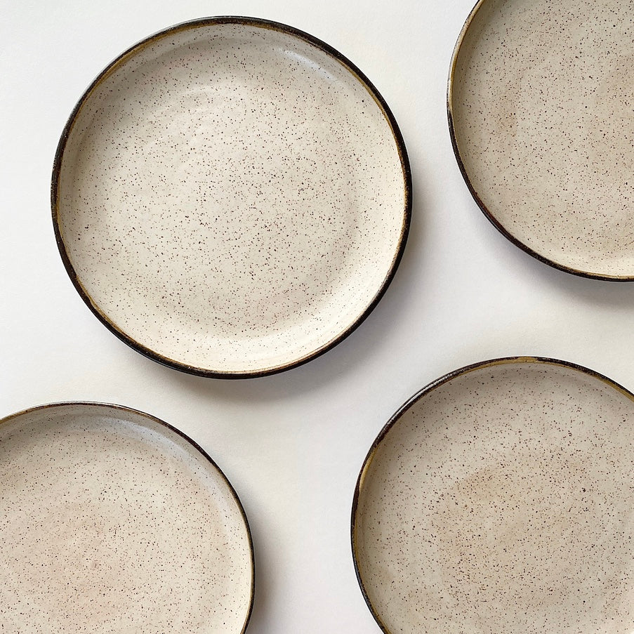 Speckled Coupe Plate Set