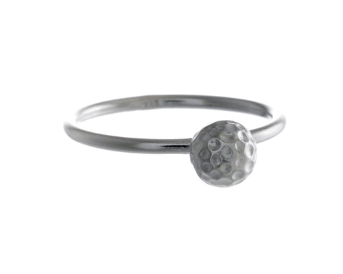 Billy Ring | 925 Sterling Silver | Rhodium Plating | Silver Ball Shaped Ring | Harper Lane Jewellery