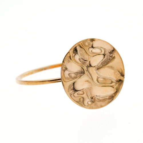 Camilla Ring | 925 Sterling Silver | 1 Micron of 18K Rose Gold Plated | Round Crumpled Shaped | Harper Lane Jewellery