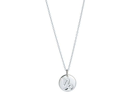 Capricorn Necklace | 925 Sterling Silver | Rhodium Plating | Silver Zodiac Sign Necklace | Harper Lane Jewellery