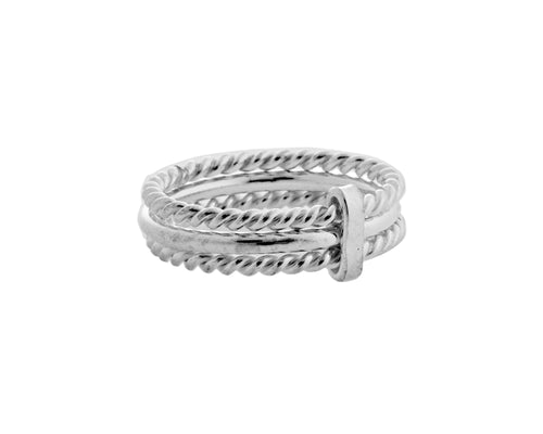 Chloe Ring | 925 Sterling Silver | Rhodium Plated | Triple Band Ring | Harper Lane Jewellery
