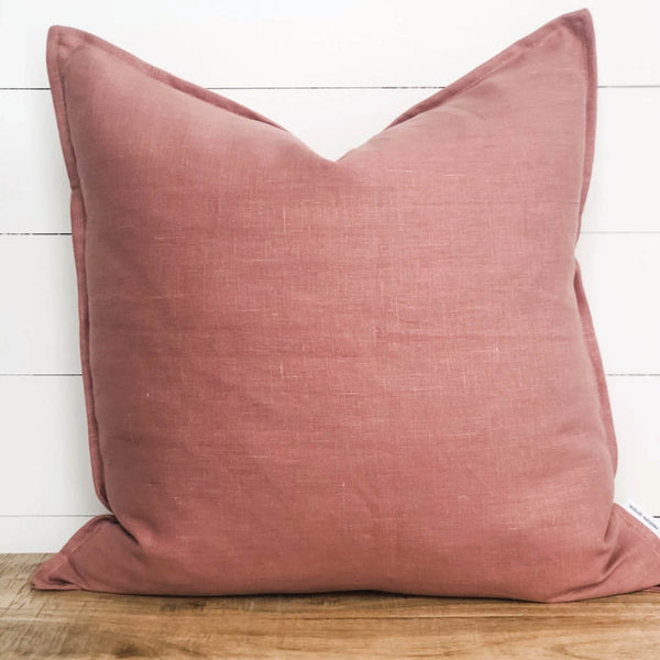 Blush Pink Linen Cushion Cover