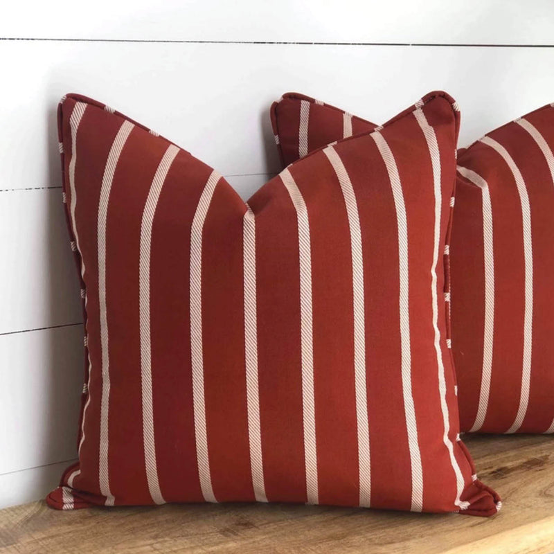 Terracotta Stripe Outdoor Cushion Cover
