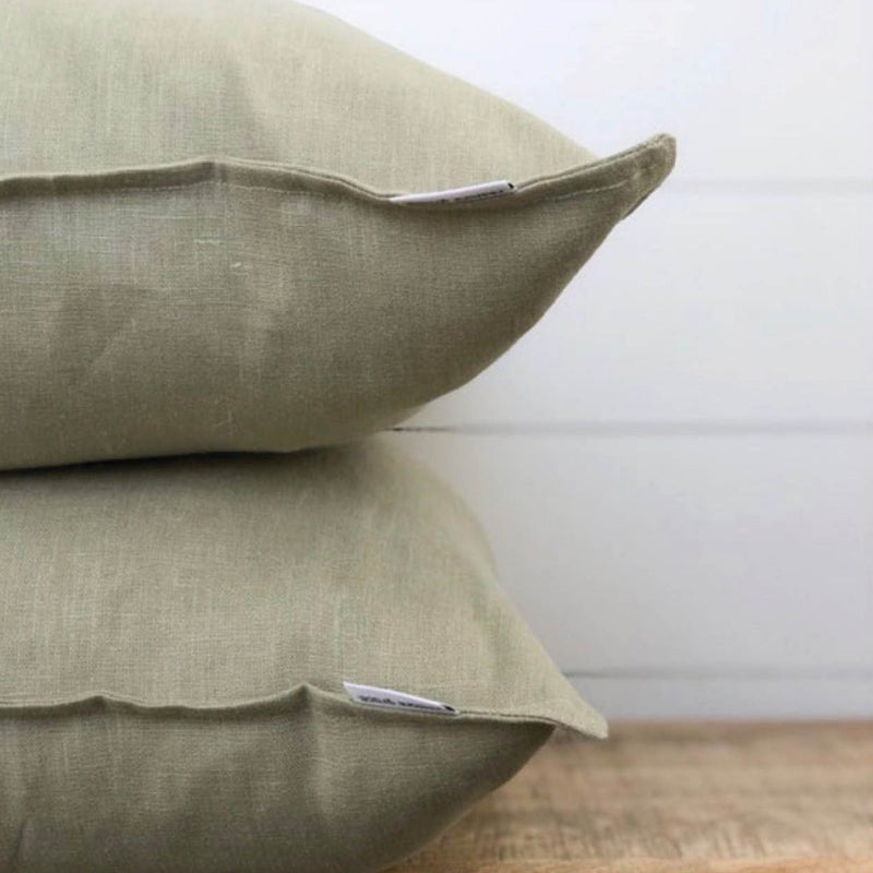 Olive Linen Cushion Cover