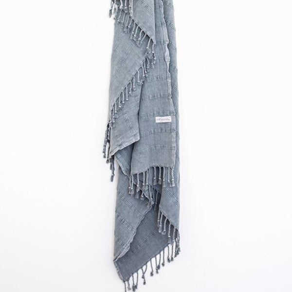Turkish Towel - Denim Grey